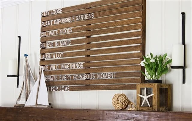 Best ideas about Pallet Wall Art . Save or Pin Pallet Wall Art and Decor Ideas Now.