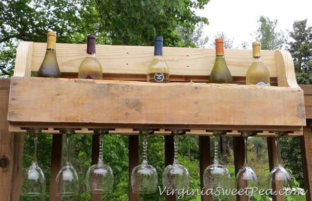 Best ideas about Pallet Wine Rack DIY . Save or Pin DIY Pallet Wine Rack Sweet Pea Now.