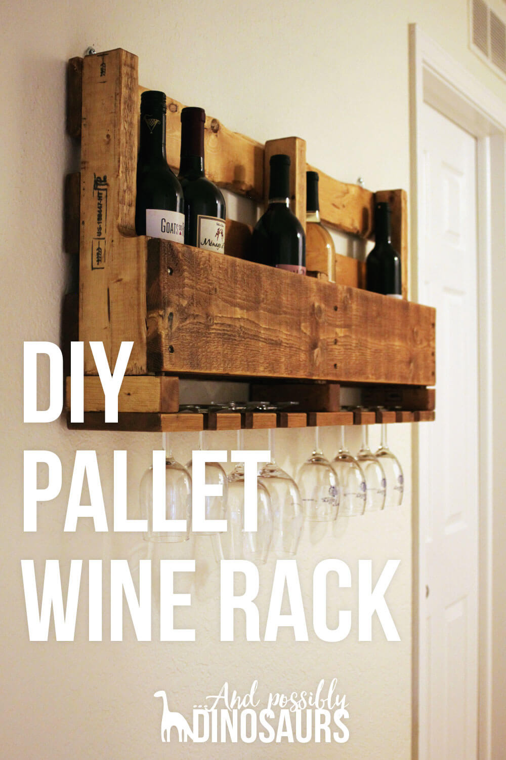 Best ideas about Pallet Wine Rack DIY . Save or Pin DIY Wine Rack from a Pallet And Possibly Dinosaurs Now.
