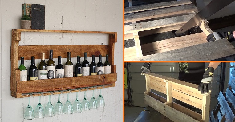 Best ideas about Pallet Wine Rack DIY . Save or Pin DIY Wine Rack From a Wood Pallet Now.