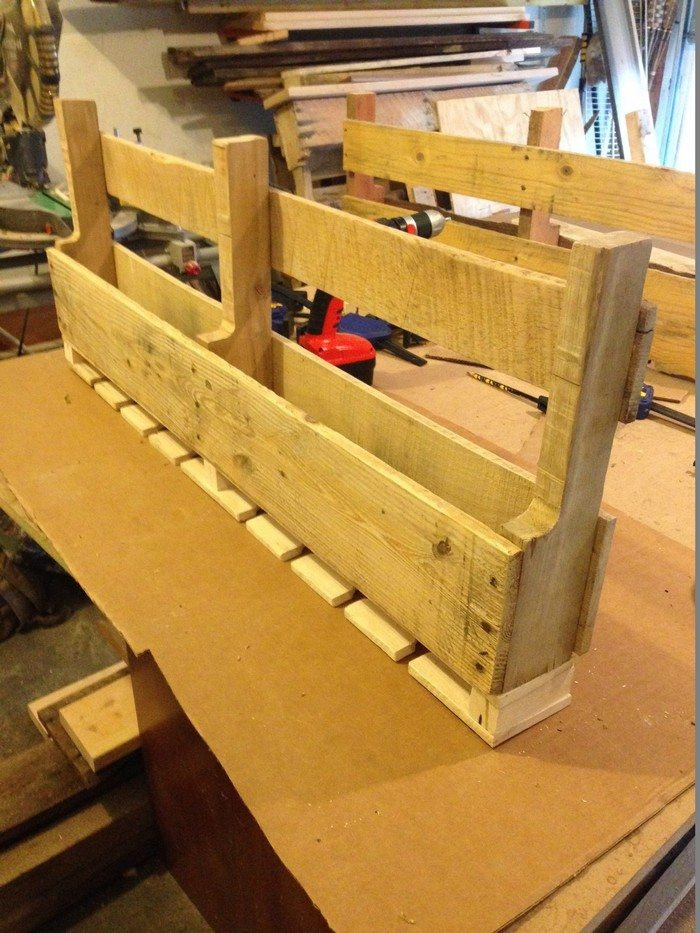 Best ideas about Pallet Wine Rack DIY . Save or Pin Wine rack from a recycled pallet Now.