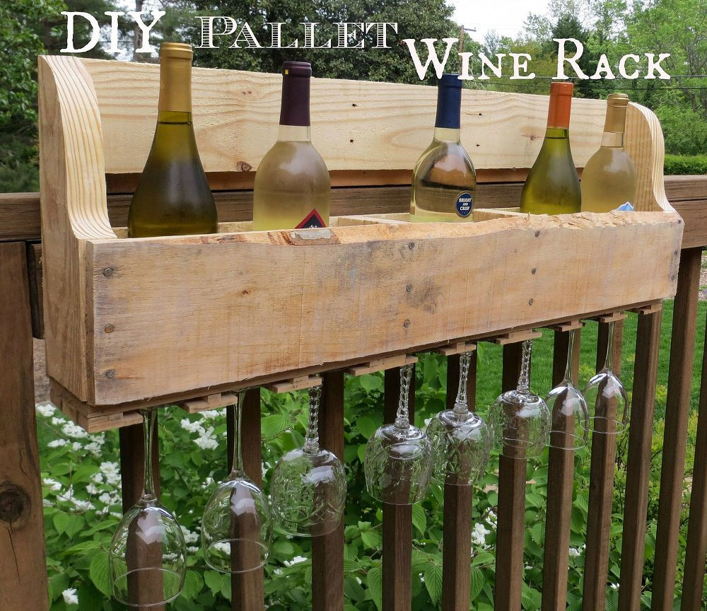 Best ideas about Pallet Wine Rack DIY . Save or Pin Hometalk Now.