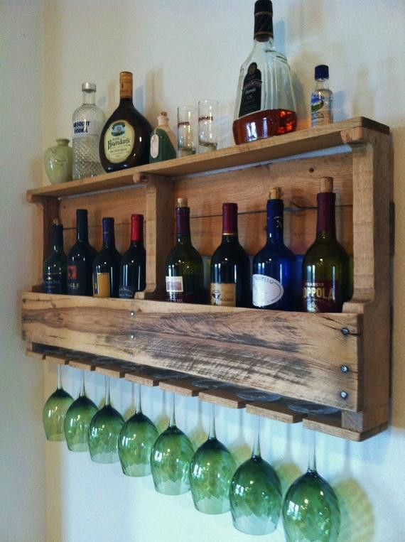 Best ideas about Pallet Wine Rack DIY . Save or Pin The Great Lakes Wine Rack Reclaimed Wood Rustic Wine Storage Now.