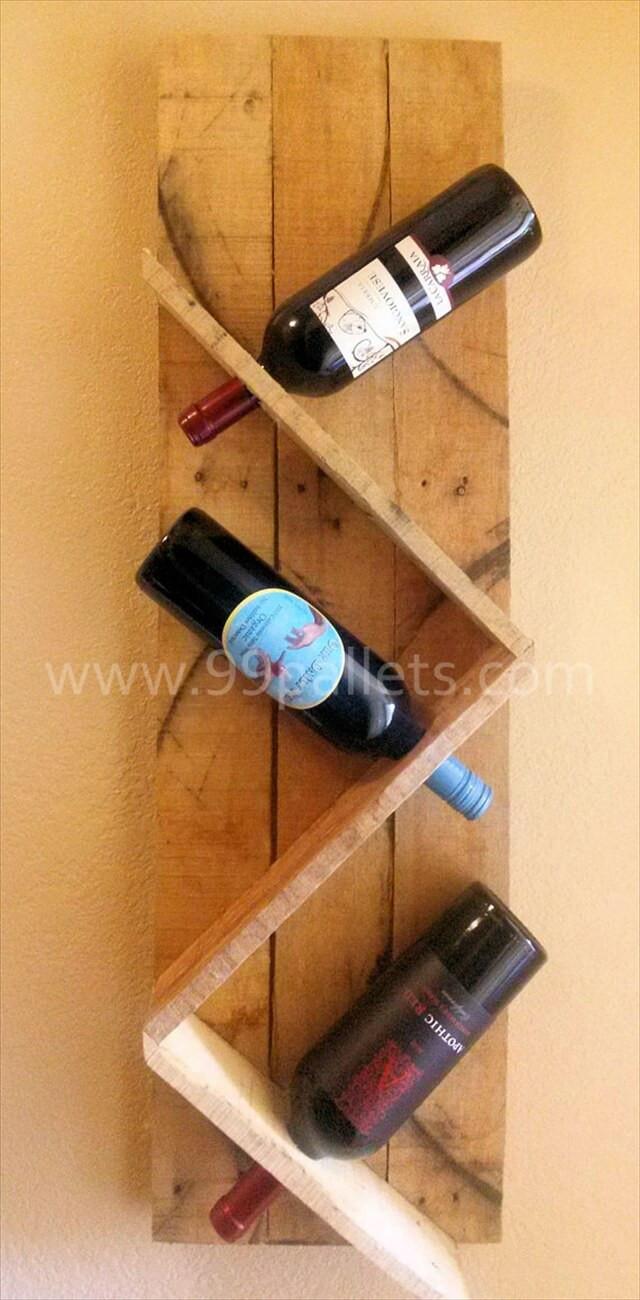 Best ideas about Pallet Wine Rack DIY . Save or Pin DIY Unique Pallet Wine Rack Now.