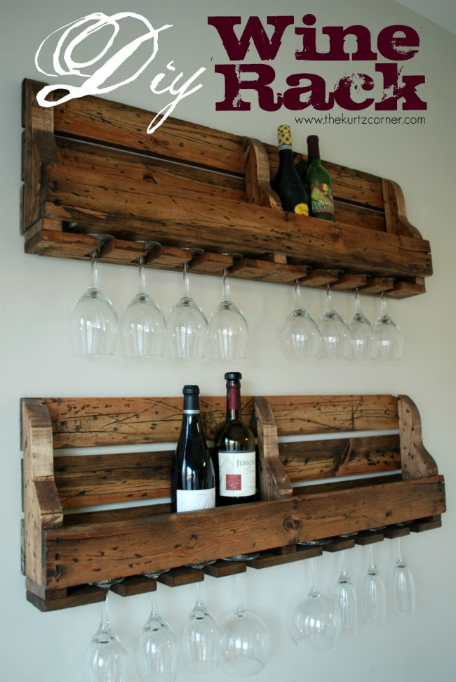Best ideas about Pallet Wine Rack DIY . Save or Pin 50 Wonderful Pallet Furniture Ideas and Tutorials Now.
