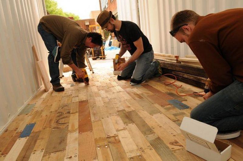 Best ideas about Pallet Wood Flooring DIY . Save or Pin DIY Pallet Flooring Now.