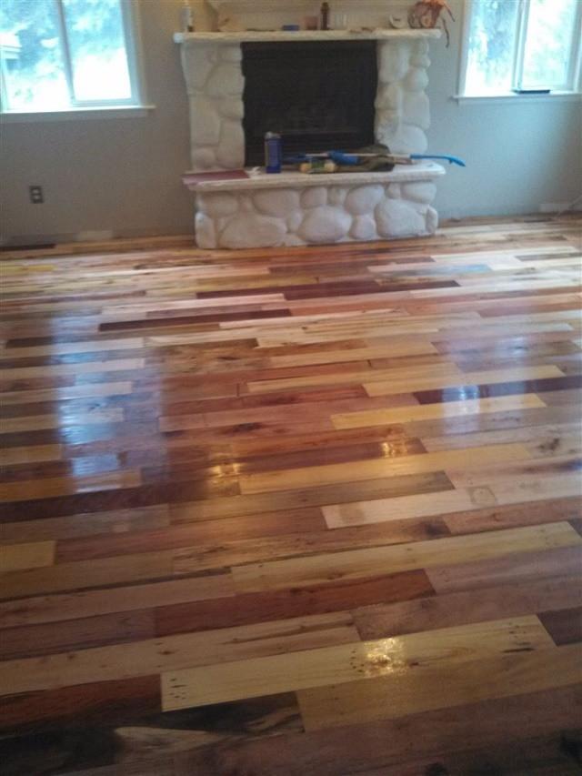 Best ideas about Pallet Wood Flooring DIY . Save or Pin DIY Project Pallet Wood Floor – page 3 Now.