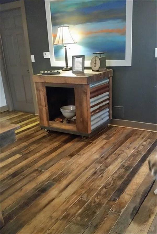 Best ideas about Pallet Wood Flooring DIY . Save or Pin Pallet flooring – upcycling ideas to have a beautiful Now.