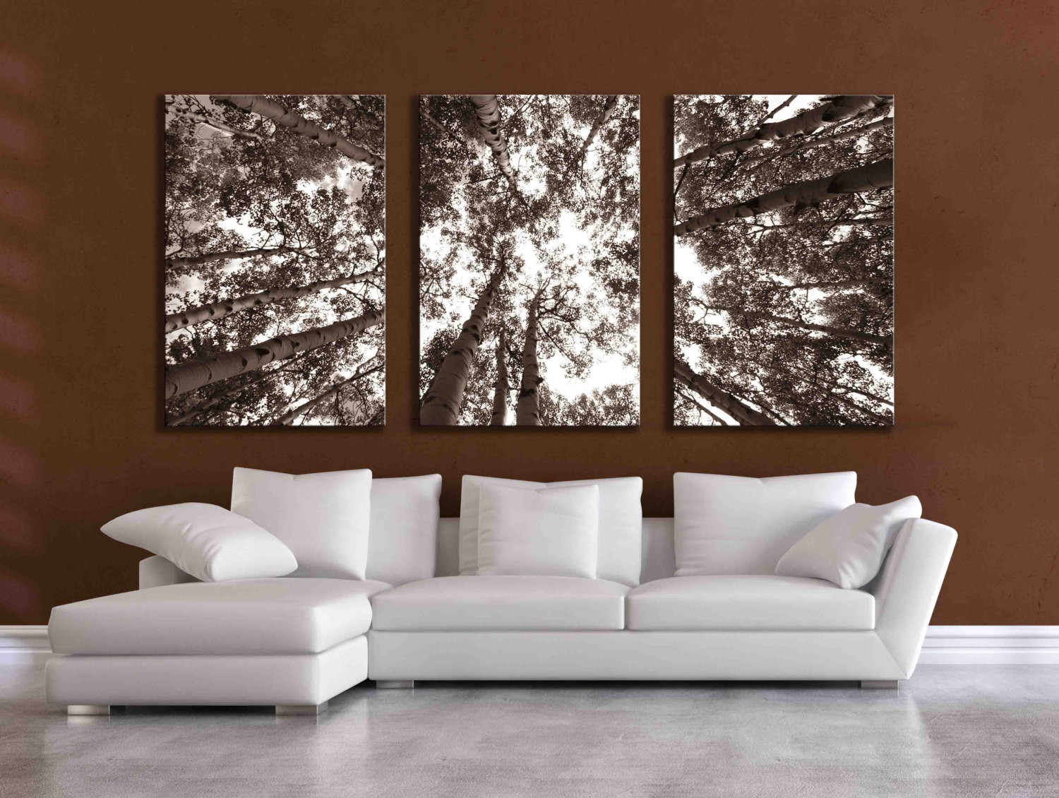 Best ideas about Panel Wall Art . Save or Pin Three large multi panel wall art aspen 20x24 inch or 24x36 Now.