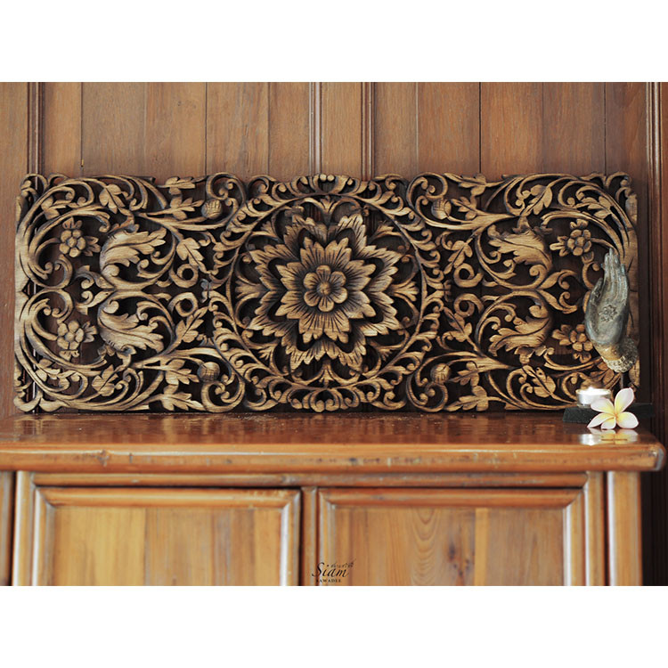 Best ideas about Panel Wall Art . Save or Pin Buy Hand Carved Lotus Wall Art Panel line Now.