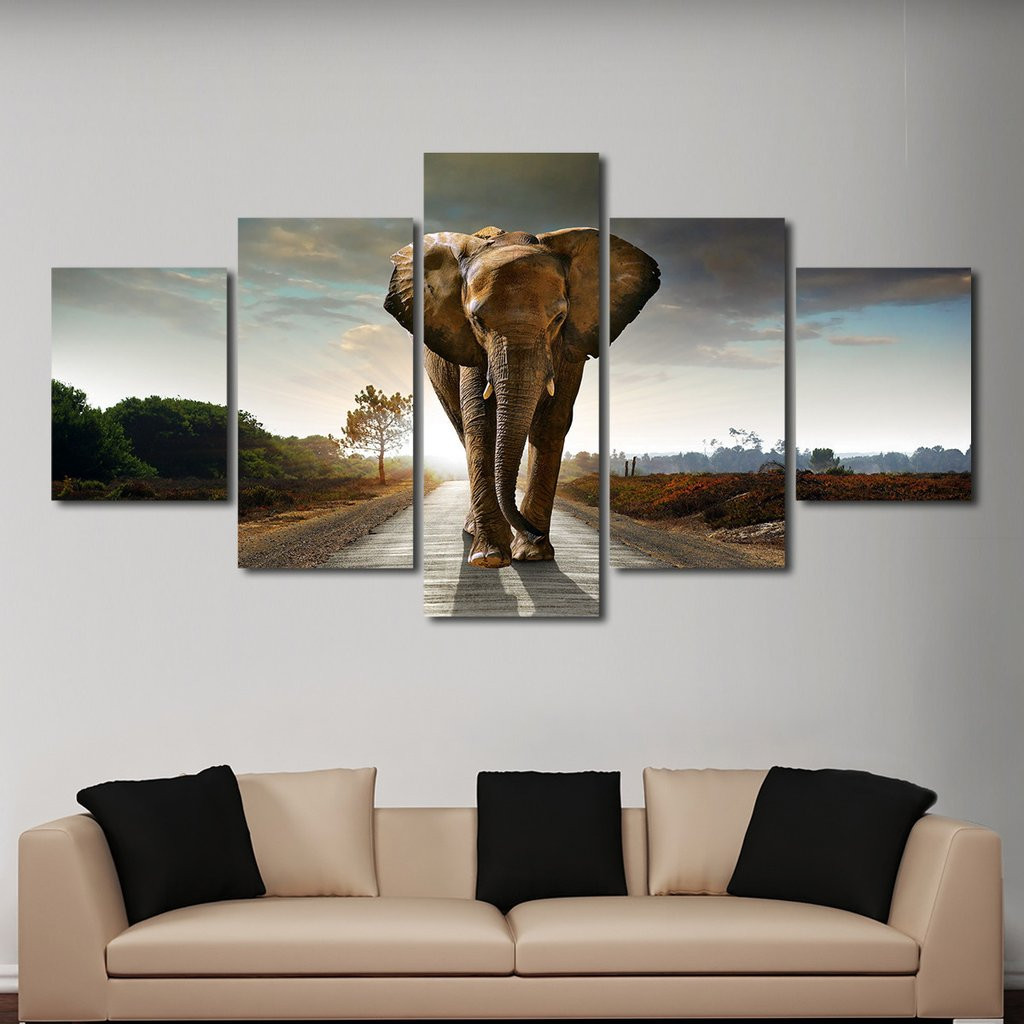 Best ideas about Panel Wall Art . Save or Pin Elephant Stock Multi Panel Canvas Wall Art Now.