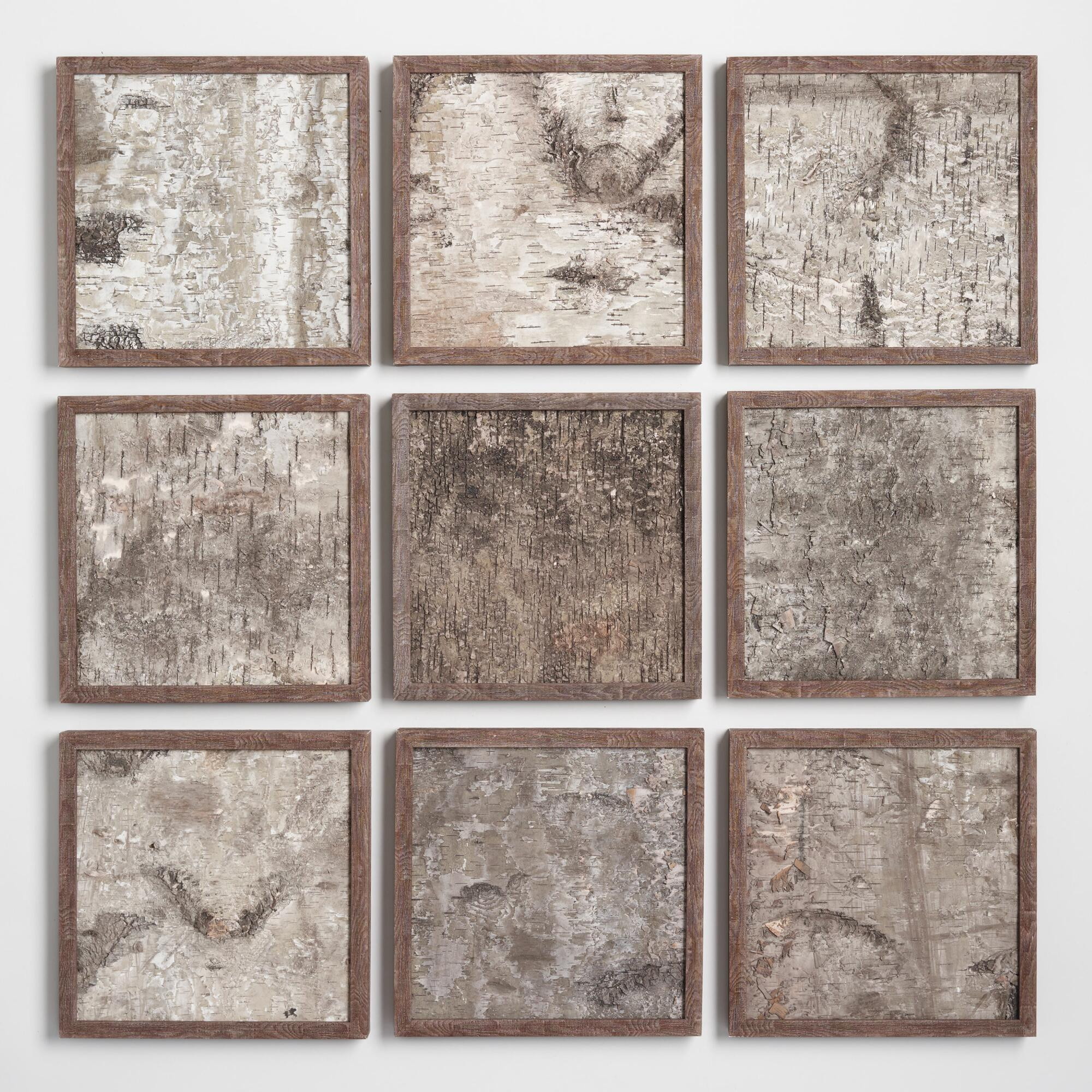 Best ideas about Panel Wall Art . Save or Pin Birch Panel Wall Art Set of 9 Now.