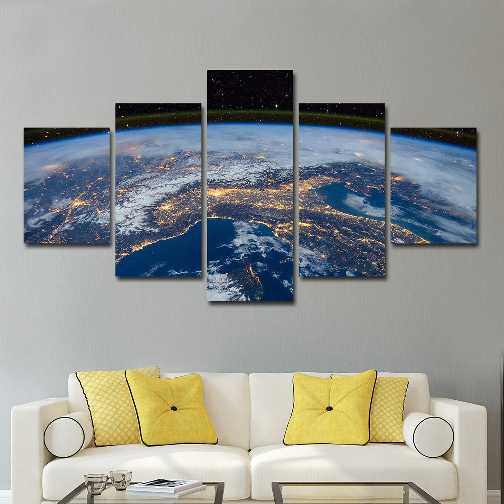 Best ideas about Panel Wall Art . Save or Pin USA from Space Multi Panel Canvas Wall Art – ElephantStock Now.