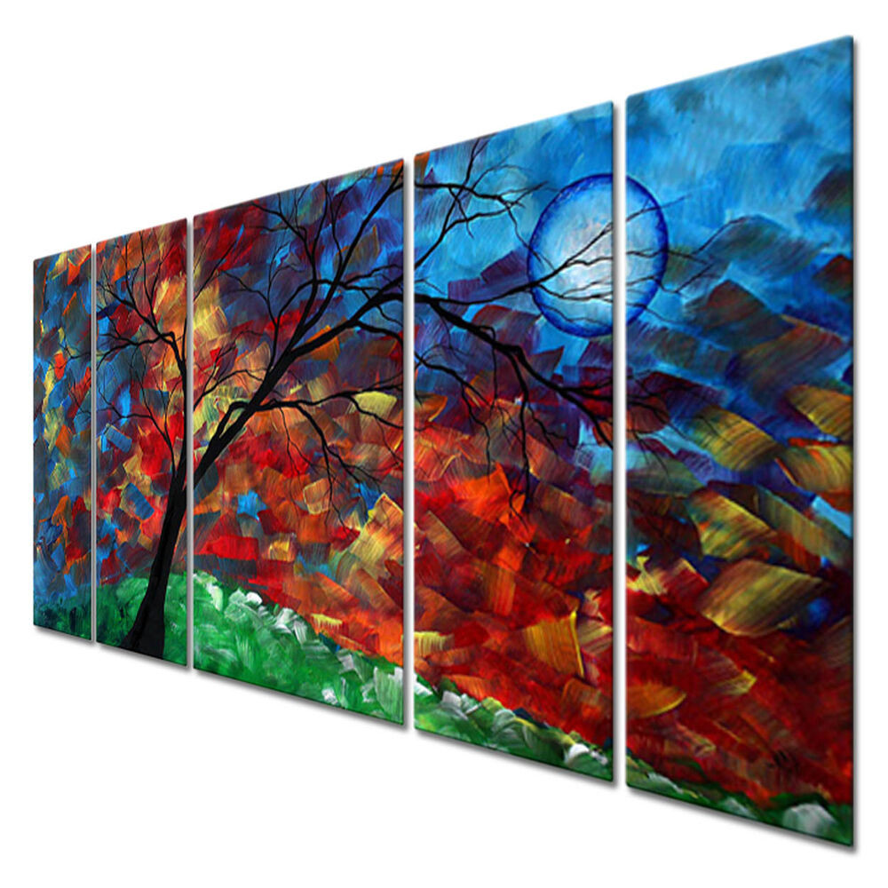 Best ideas about Panel Wall Art . Save or Pin Metal Wall Hanging Set Contemporary Sculpture 5 Panels Now.