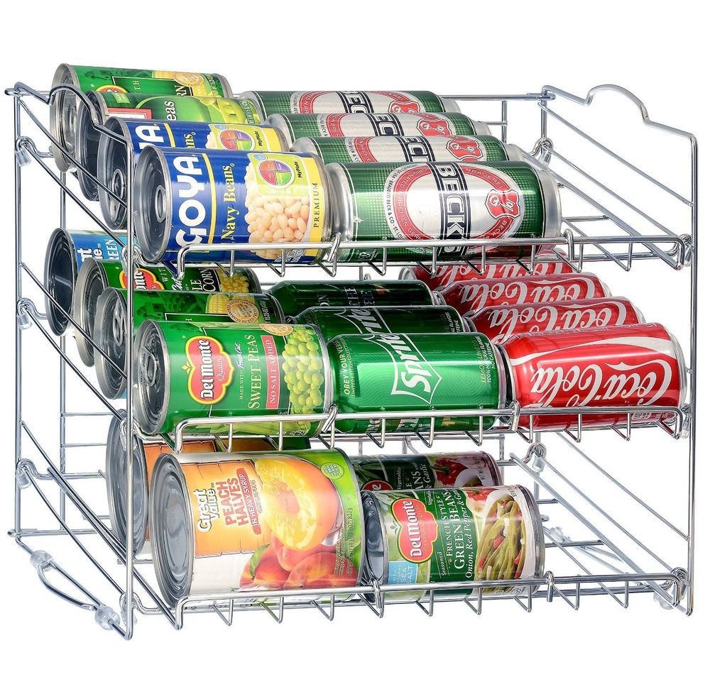 Best ideas about Pantry Can Organizer . Save or Pin 36 Can Rack Holder Organizer Storage Kitchen Shelf Food Now.
