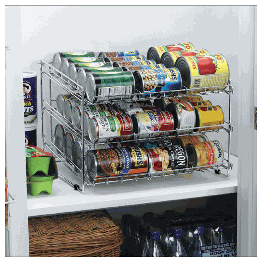 Best ideas about Pantry Can Organizer . Save or Pin Deluxe Chrome Canned Food Storage Rack Contemporary Now.