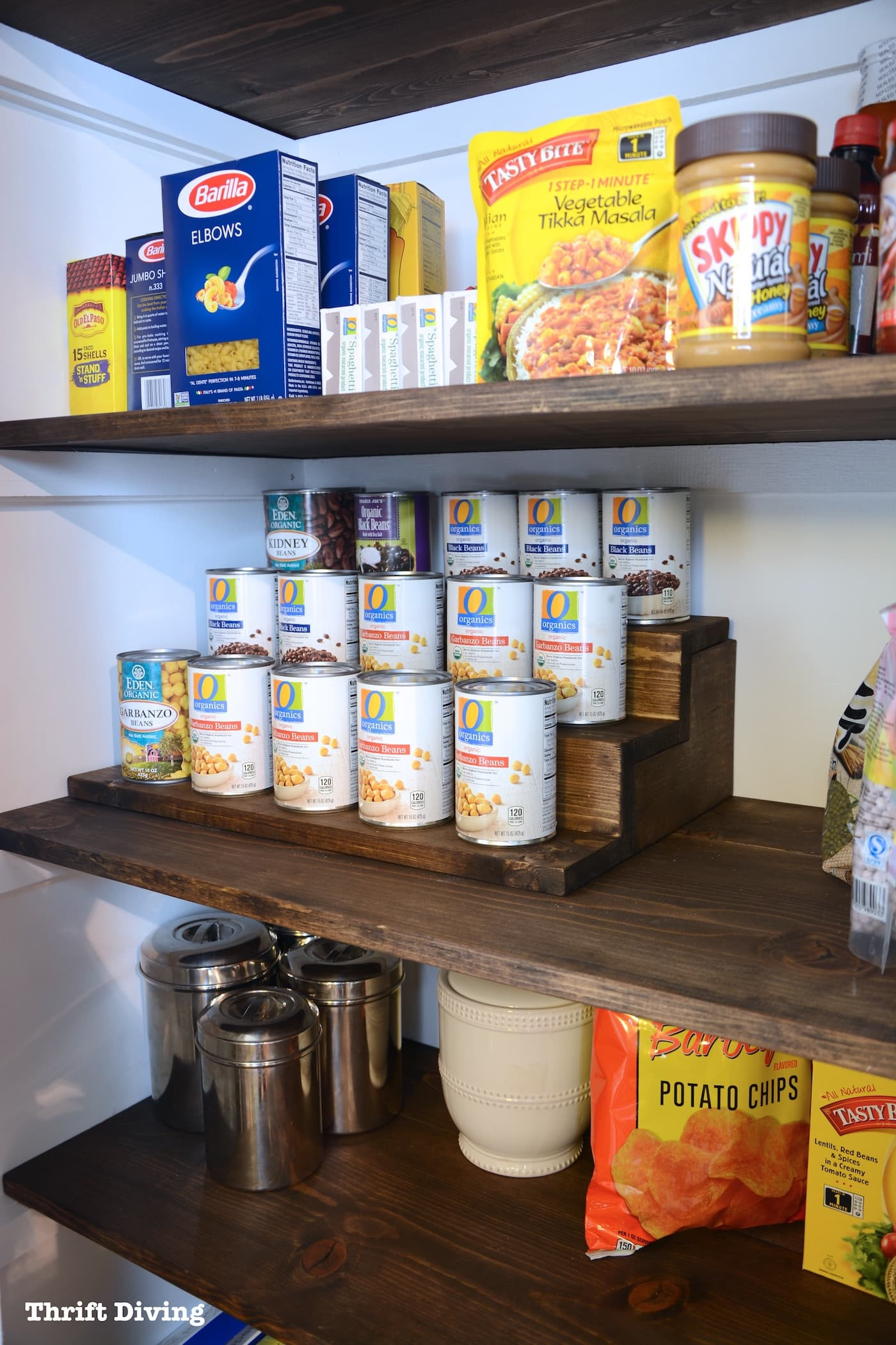 Best ideas about Pantry Can Organizer . Save or Pin Pantry Makeover and Can Food Organizer With Hidden Storage Now.
