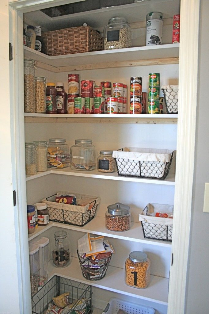 Best ideas about Pantry Closet Ideas . Save or Pin DIY – New Pantry Shelving Organization Pinterest Now.