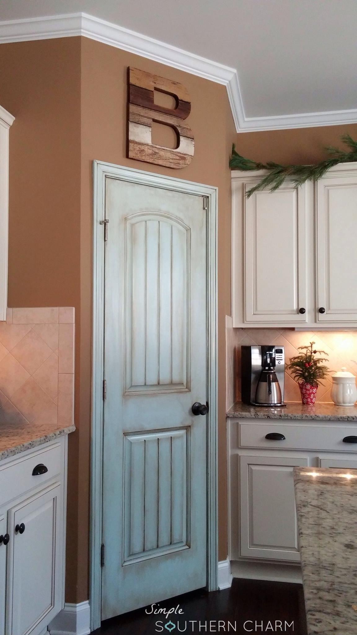 Best ideas about Pantry Door Ideas . Save or Pin Aqua pantry door update Now.