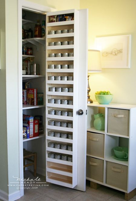 Best ideas about Pantry Door Spice Rack . Save or Pin Spice Rack Storage Solutions Sand and Sisal Now.