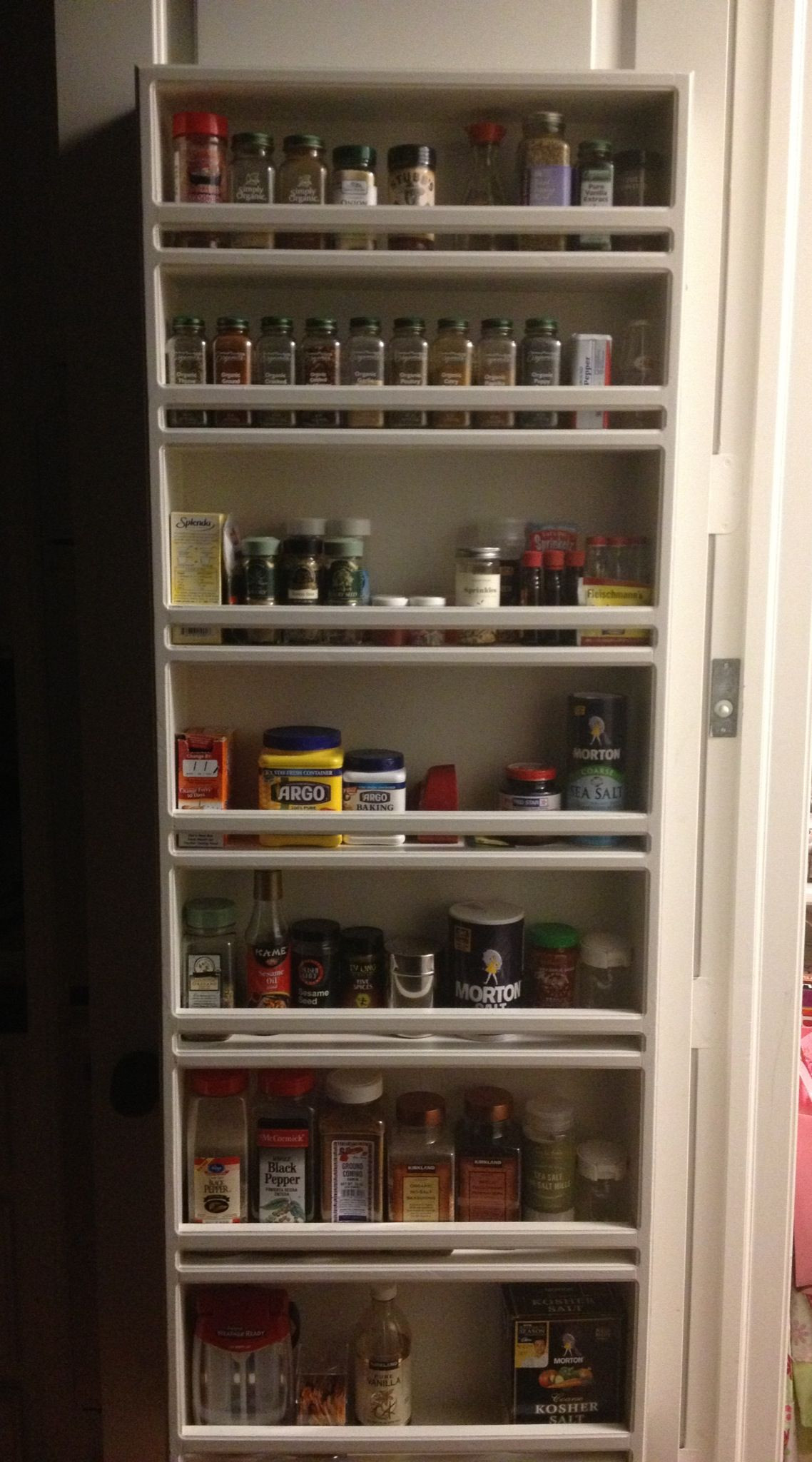 Best ideas about Pantry Door Spice Rack . Save or Pin Spice rack pantry door Organization Now.
