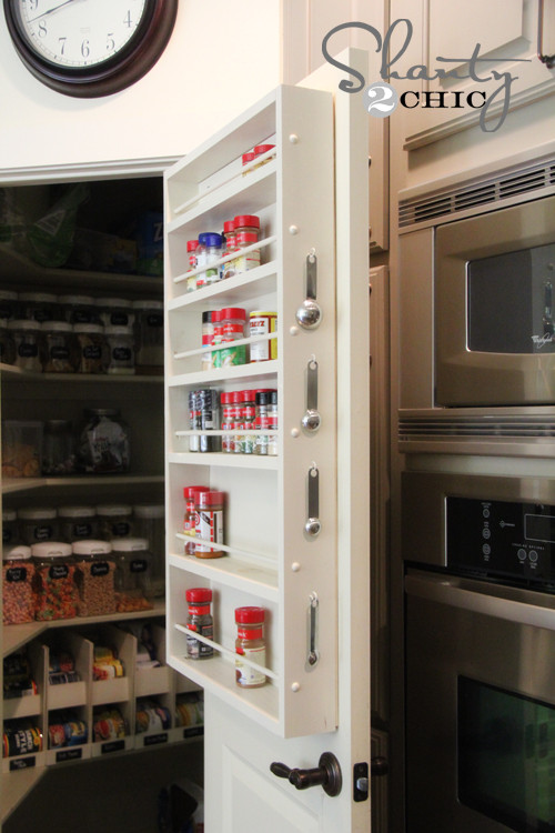 Best ideas about Pantry Door Spice Rack . Save or Pin Pantry Ideas DIY Door Spice Rack Shanty 2 Chic Now.