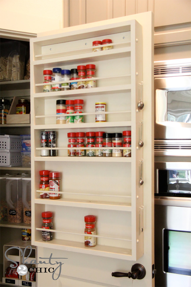 Best ideas about Pantry Door Spice Rack . Save or Pin 8 Pretty Pantry Door Ideas That Showcase Your Storeroom as Now.