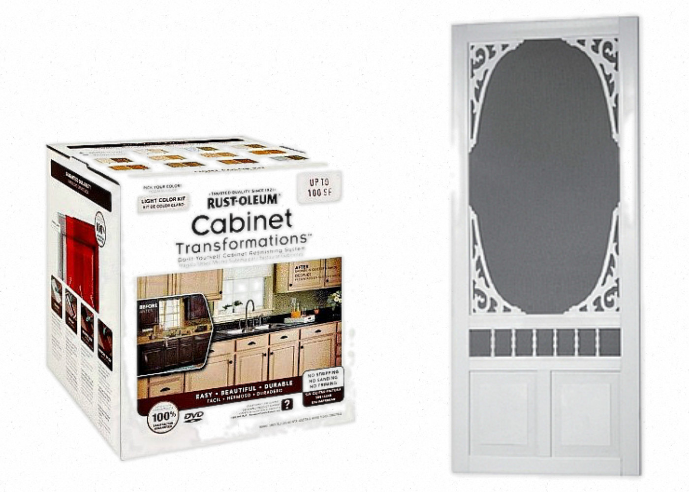 Best ideas about Pantry Doors Lowes . Save or Pin White Painted Kitchen Island & Pantry Screen Door $100 Now.