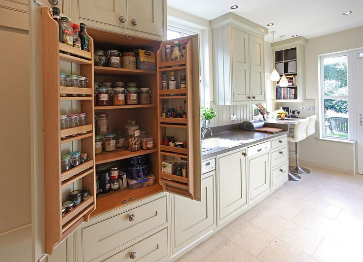 Best ideas about Pantry In Spanish . Save or Pin Bat wing pantry cabinet in galley kitchen Bespoke small Now.