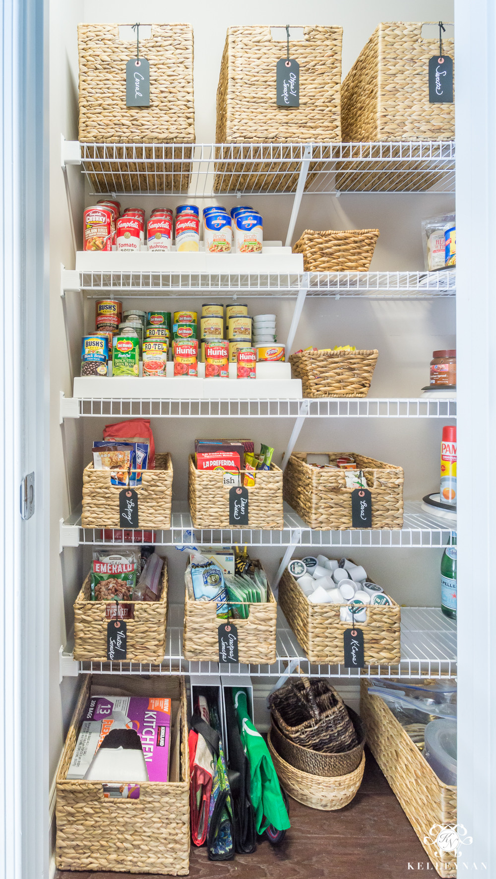 Best ideas about Pantry Organization Ideas . Save or Pin Nine Ideas to Organize a Small Pantry with Wire Shelving Now.