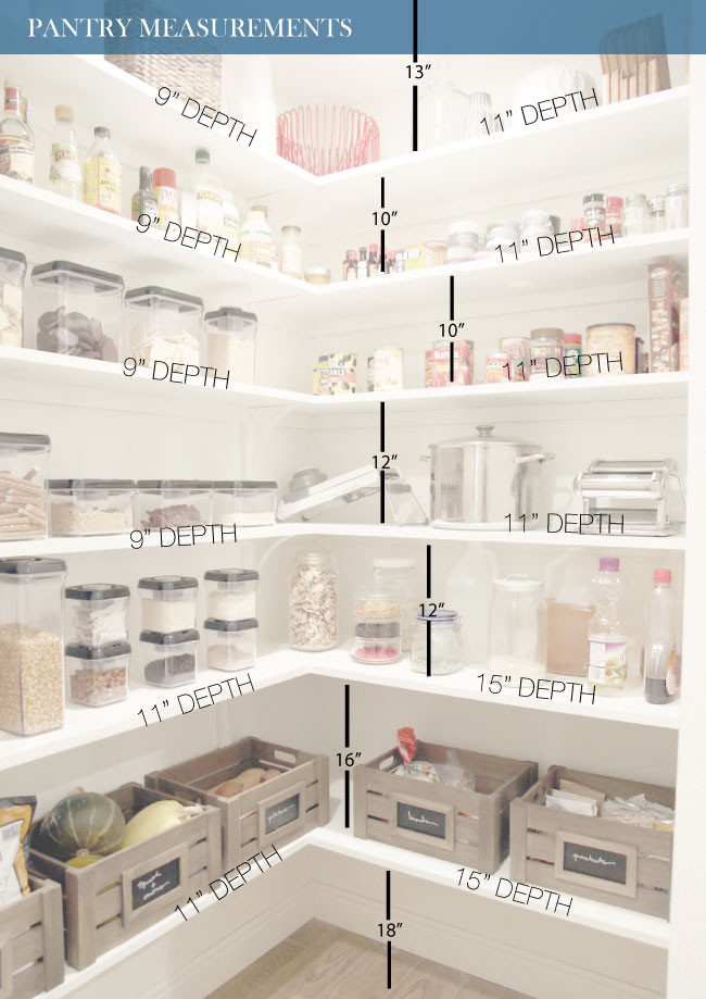 Best ideas about Pantry Shelf Spacing . Save or Pin The Finished Pantry Chris Loves Julia Now.