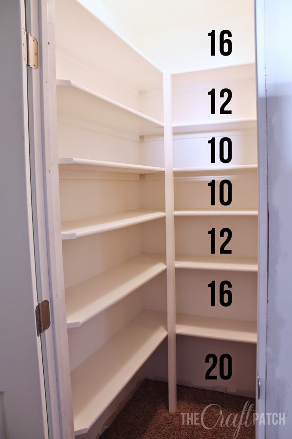 Best ideas about Pantry Shelf Spacing . Save or Pin How to Build Pantry Shelving thecraftpatchblog Now.