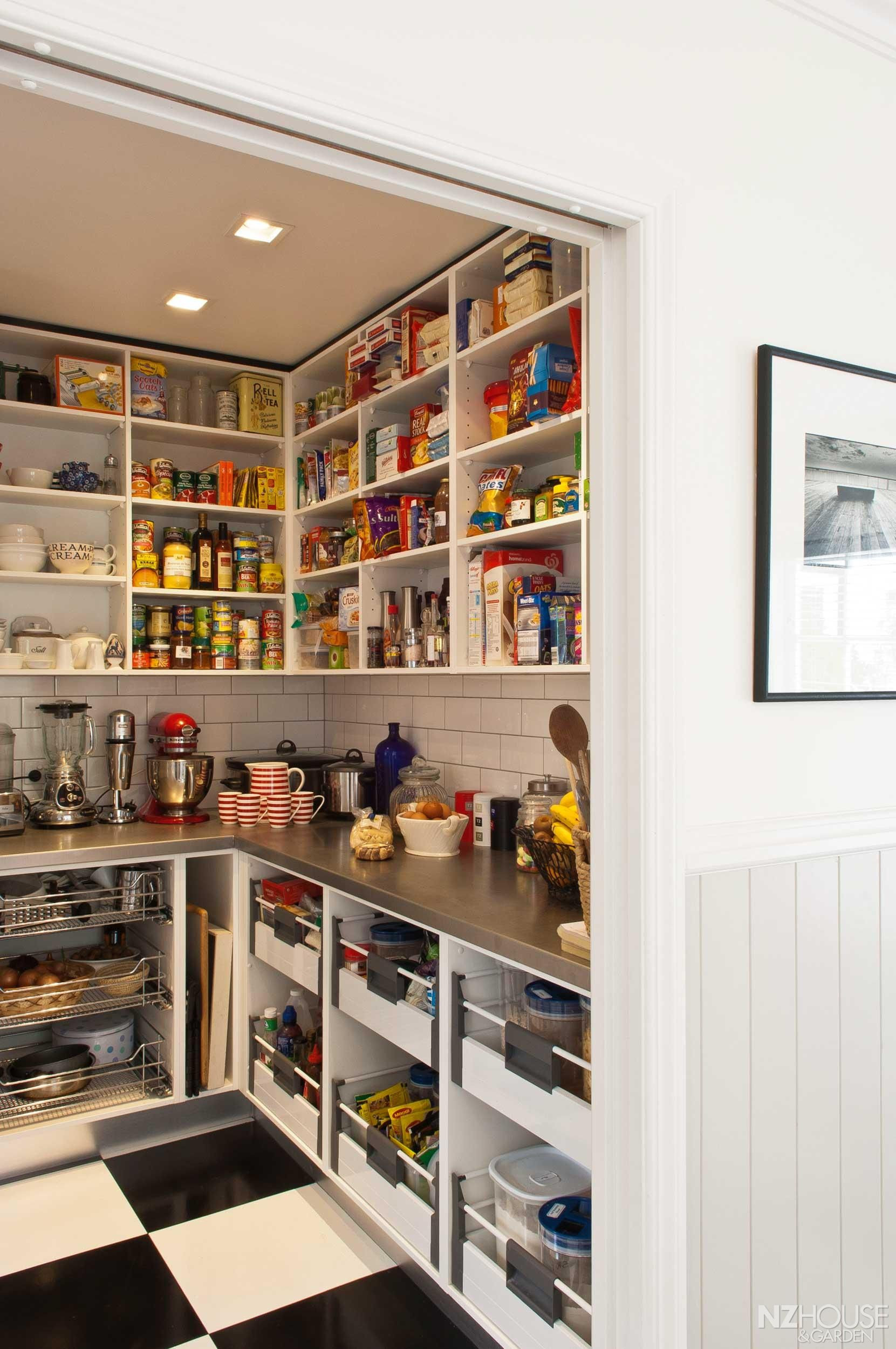 Best ideas about Pantry Shelf Spacing . Save or Pin Love this pantry with counter space it would keep the Now.