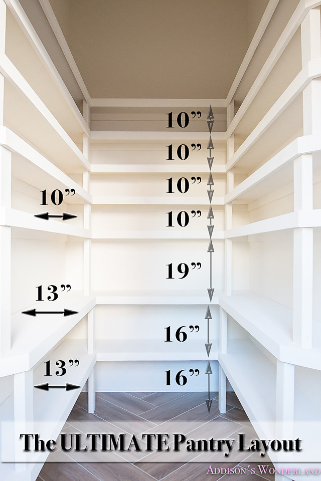 Best ideas about Pantry Shelf Spacing . Save or Pin The Ultimate Pantry Layout Design Addison s Wonderland Now.