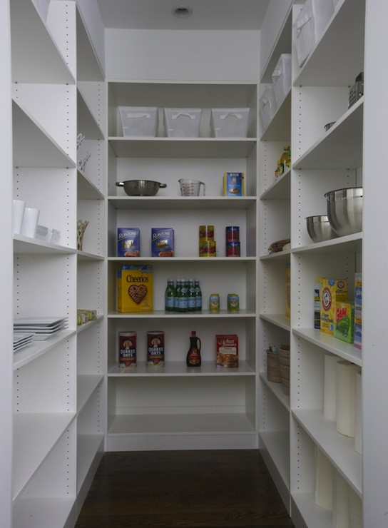 Best ideas about Pantry Shelf Spacing . Save or Pin Walk In Pantry Shelves Traditional kitchen Lynn Now.