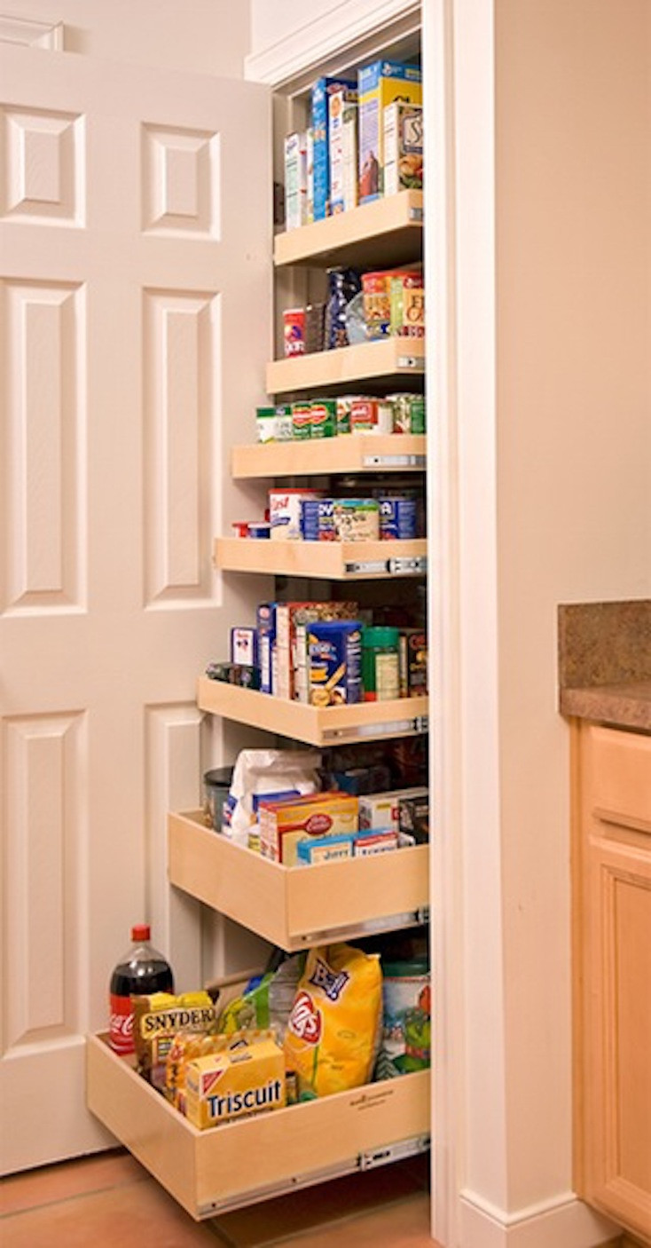 Best ideas about Pantry Shelving Ideas . Save or Pin Creative Pantry Organizing Ideas and Solutions Now.