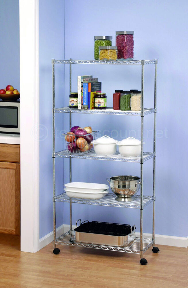 Best ideas about Pantry Shelving Units . Save or Pin 5 Shelf Wire Shelving Unit Storage Kitchen Garage Laundry Now.