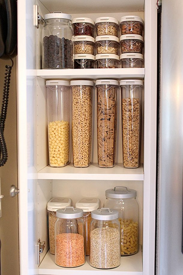 Best ideas about Pantry Storage Containers . Save or Pin Kitchen Organization Ideas and Hacks landeelu Now.