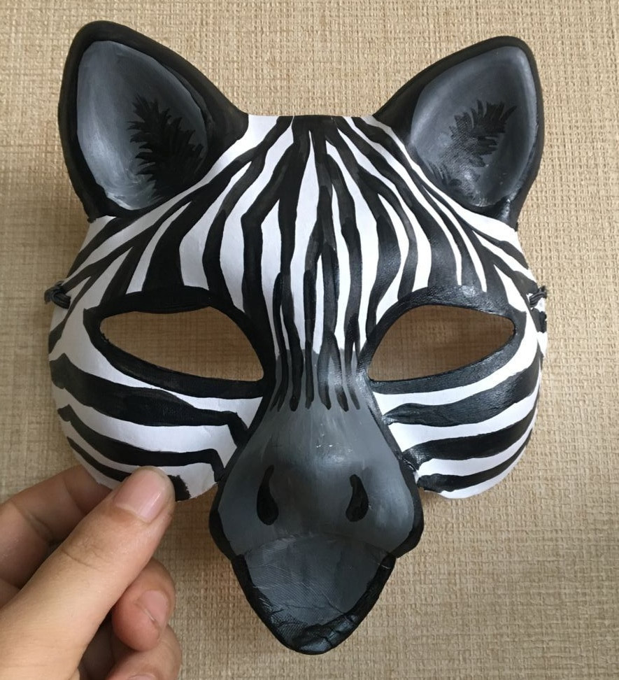 Best ideas about Paper Mache Mask DIY . Save or Pin New Quality Handmade DIY Mask Halloween Cute Zebra Mask Now.