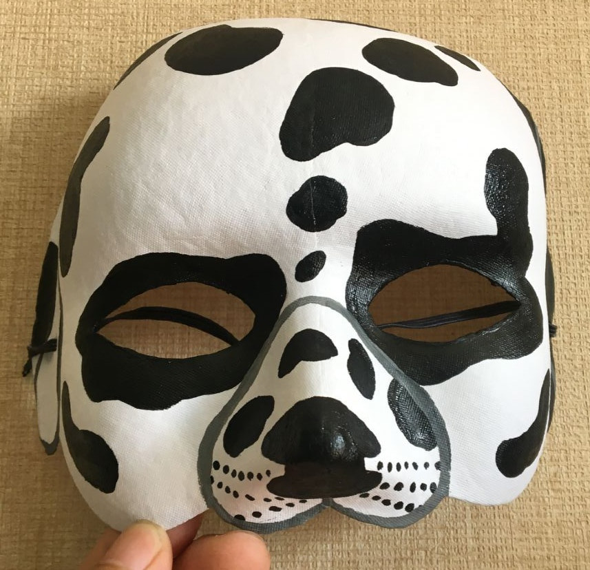 Best ideas about Paper Mache Mask DIY . Save or Pin New Quality Handmade DIY Mask Halloween Dalmatian Dogs Now.