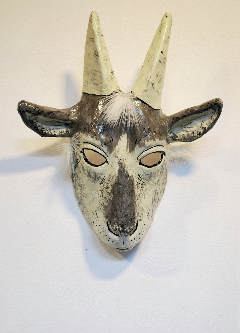 Best ideas about Paper Mache Mask DIY . Save or Pin Paper mache goat mask Now.
