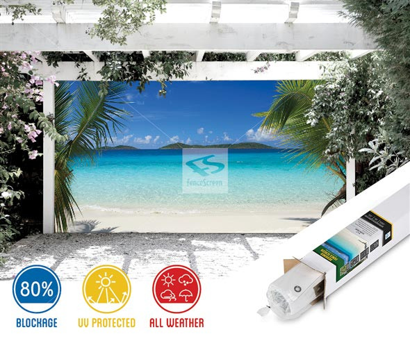 Best ideas about Patio Backdrop Screen . Save or Pin Ocean Front Patio Backdrop & Gazebo Screen Now.
