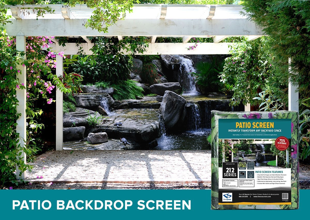 Best ideas about Patio Backdrop Screen . Save or Pin Galleon FenceScreen Printed Patio Backdrop Screen Now.