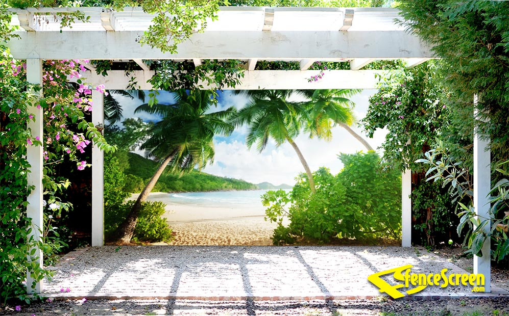 Best ideas about Patio Backdrop Screen . Save or Pin Sunset at Takamaka Beach Patio Backdrop & Gazebo Screen Now.
