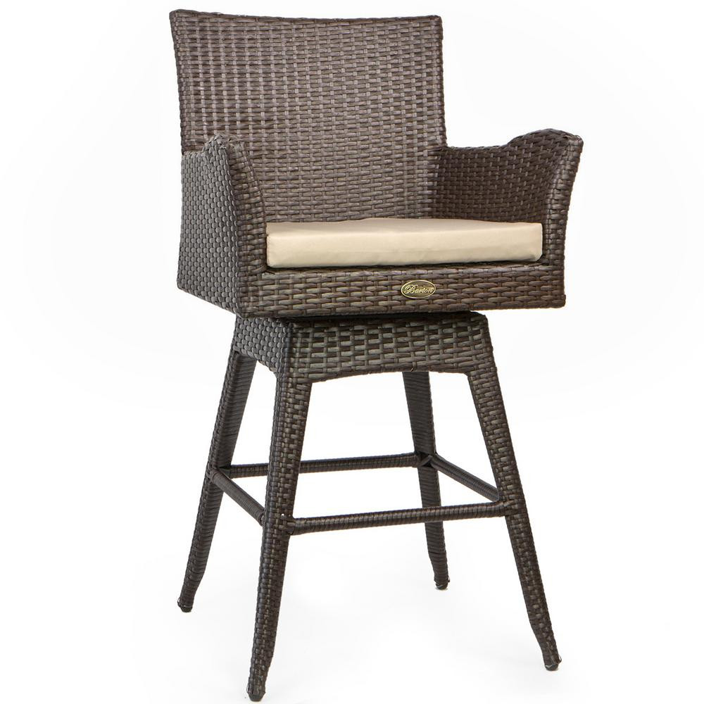 Best ideas about Patio Bar Stools . Save or Pin Noble House Margarita Foldable Wicker Outdoor Bar Stool 2 Now.
