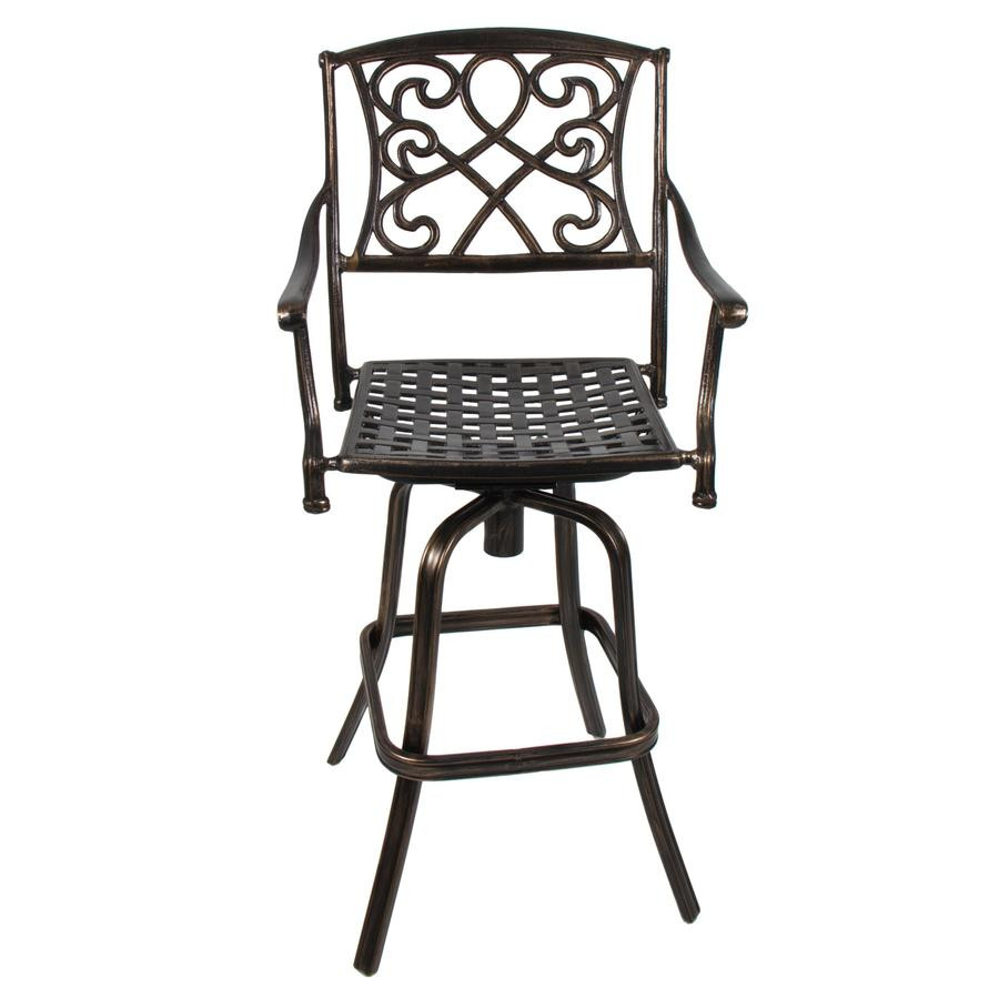 Best ideas about Patio Bar Stools . Save or Pin Outdoor Cast Aluminum Swivel Patio Bar Stool Copper Now.