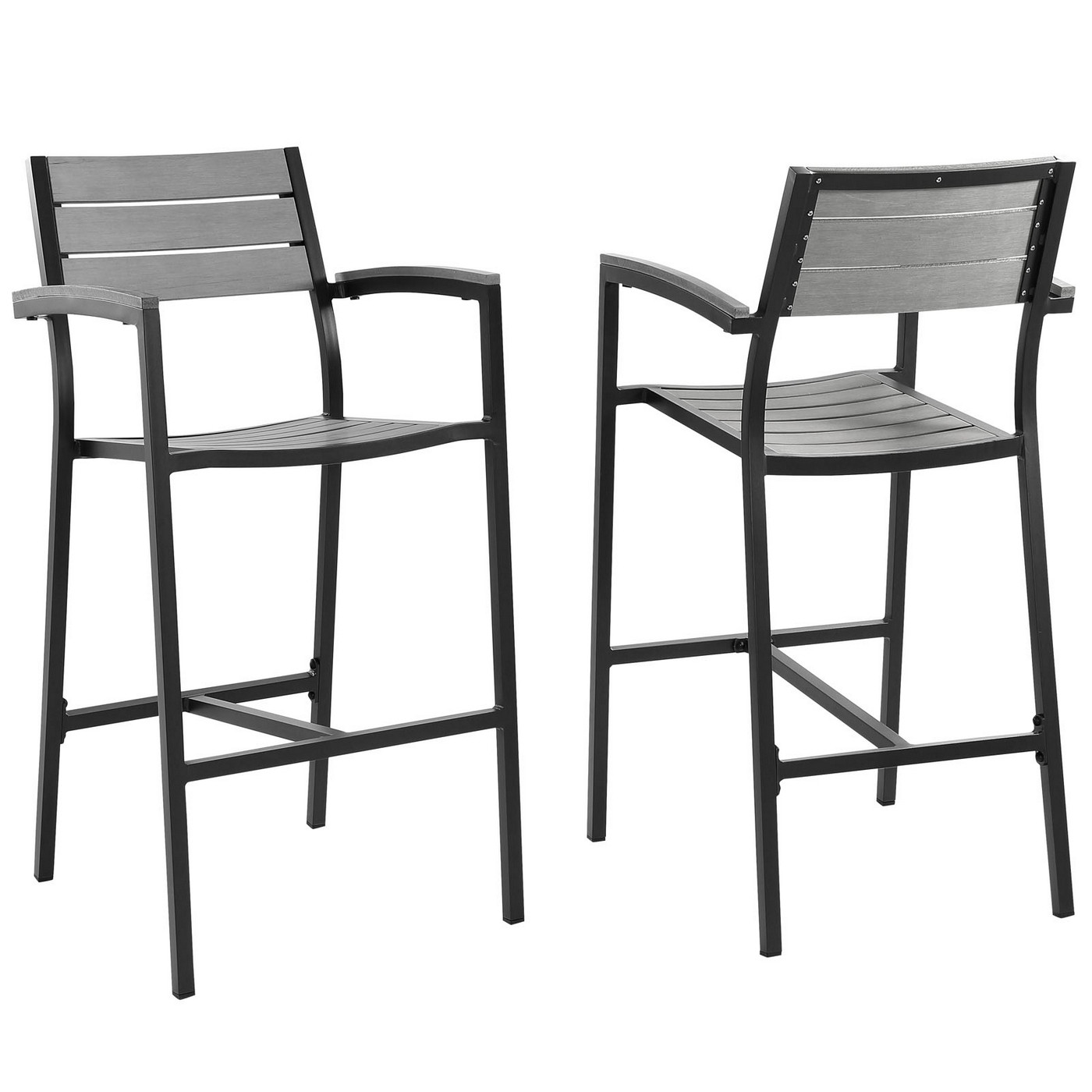 Best ideas about Patio Bar Stools . Save or Pin Set 2 Maine Rustic Wooden Plank Board Outdoor Patio Now.