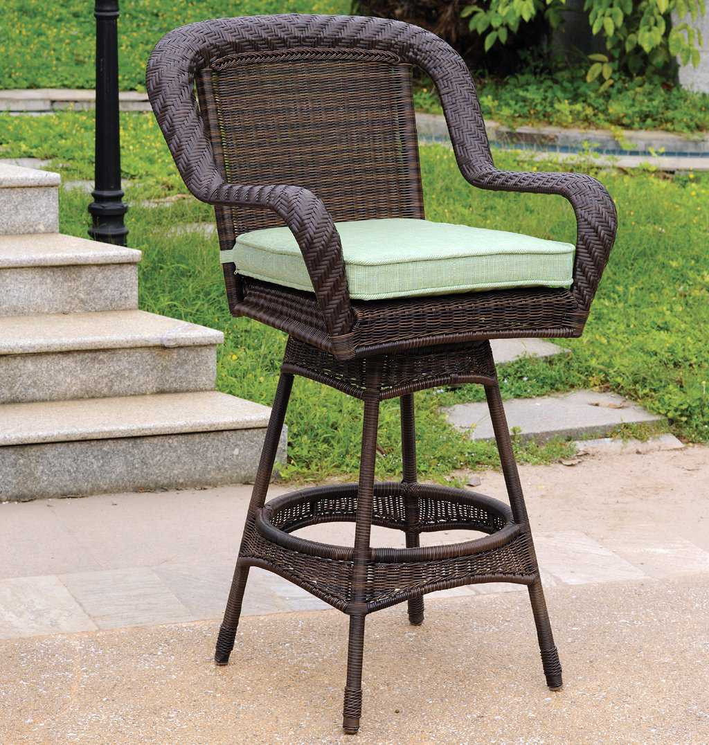 Best ideas about Patio Bar Stools . Save or Pin South Sea Rattan Key West Wicker Cushion Arm Swivel Bar Now.