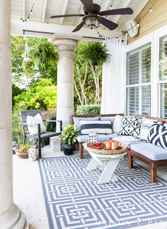 Best ideas about Patio Decorating Ideas . Save or Pin Summer Porch Decor Ideas Ferns and Succulents Maison de Pax Now.