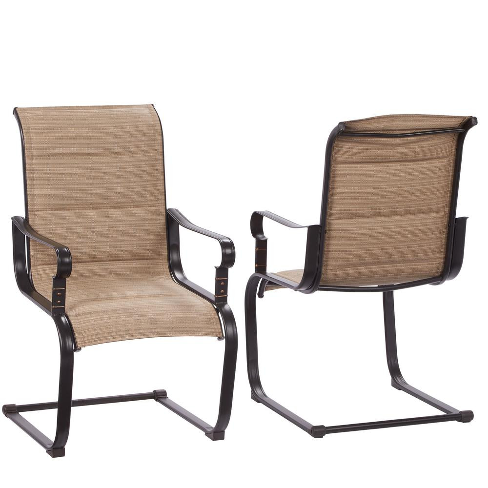 Best ideas about Patio Dining Chairs . Save or Pin Hampton Bay Belleville Rocking Padded Sling Outdoor Dining Now.